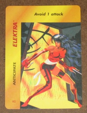 Marvel OverPower (Fleer 1995) - Elektra Anticipate Card EX-MT