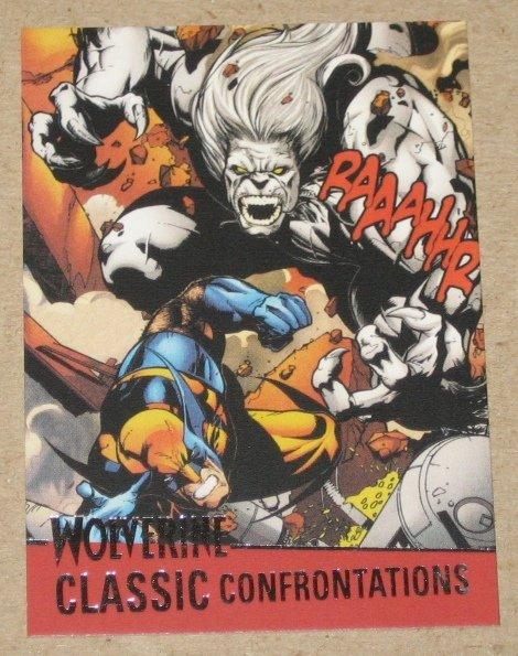 X-Men Origins: Wolverine Movie Classic Confrontations Card G5- Wolverine vs. Wendigo EX-MT