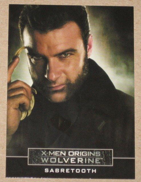 X-Men Origins: Wolverine Movie Casting Call Card C3- Liev Schreiber as Sabretooth EX