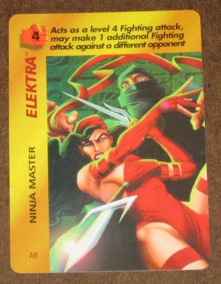 Marvel OverPower (Fleer 1995) - Elektra Ninja Master Card EX