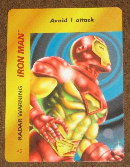 Marvel OverPower (Fleer 1995) - Iron Man Radar Warning Card EX