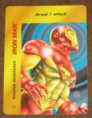 Marvel OverPower (Fleer 1995) - Iron Man Radar Warning Card EX