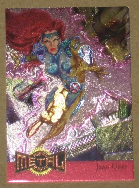 Marvel Metal (Fleer 1995) Metal Blaster Card #8- Jean Grey VG