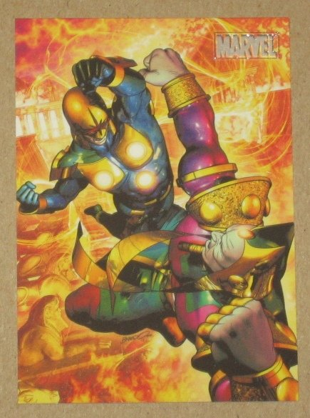 Marvel Heroes and Villains (Rittenhouse 2010) Parallel Card #23- Nova vs. Sphinx NM