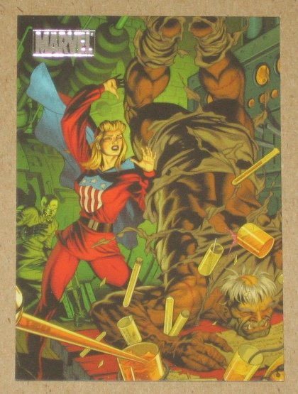 Marvel Heroes and Villains (Rittenhouse 2010) Parallel Card #24- Miss America vs. Henchman NM