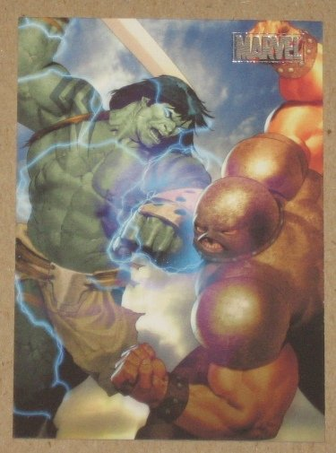Marvel Heroes and Villains (Rittenhouse 2010) Parallel Card #3- Skaar vs. Juggernaut EX-MT
