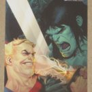 Marvel Heroes and Villains (Rittenhouse 2010) Parallel Card #21- Skaar vs. Tyrannus EX-MT