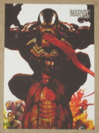 Marvel Heroes and Villains (Rittenhouse 2010) Parallel Card #40- Moon Knight vs. Venom EX-MT