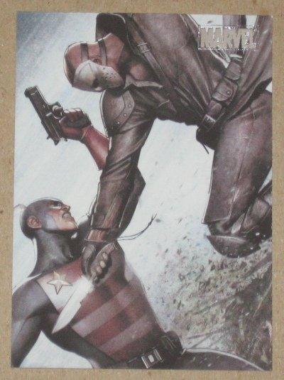 Marvel Heroes and Villains (Rittenhouse 2010) Parallel Card #75- U.S. Agent vs. Nuke EX-MT