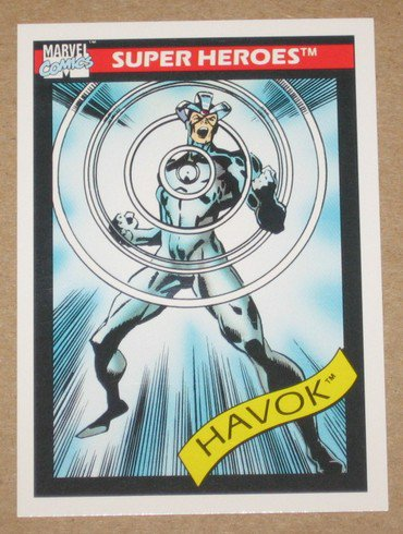 Marvel Universe Series 1 (Impel 1990) Card #35- Havok EX