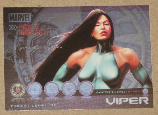 Marvel Heroes and Villains (Rittenhouse 2010) Most Wanted Card M8- Viper EX-MT