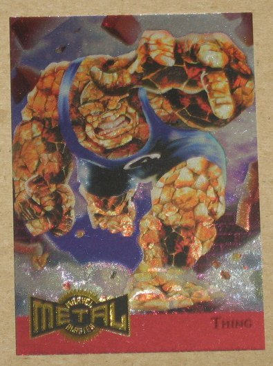 Marvel Metal (Fleer 1995) Metal Blaster Card #14- Thing EX-MT
