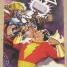 DC versus Marvel (Fleer/SkyBox 1995) Holo F/X Card #10- Captain Marvel vs. Thor EX
