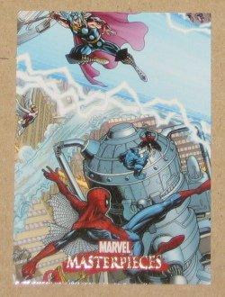 Marvel Masterpieces Set 1 (Upper Deck 2007) Splash Page Card Adams #1 EX-MT