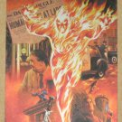 70 Years of Marvel Comics (Rittenhouse 2010) Metalic Ink Parallel Tribute Card T7- Human Torch EX-MT