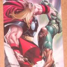 Marvel Heroes and Villains (Rittenhouse 2010) Parallel Card #33- Thor vs. Gauntlet EX