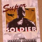 Captain America The First Avenger Movie (Upper Deck 2011) Poster Series Card P-4 VG