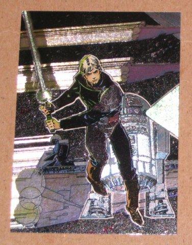 Star Wars Galaxy Series 1 (Topps 1993) Etched Foil Card #3- Luke Skywalker EX