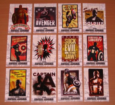 Captain America The First Avenger Movie (Upper Deck 2011) Poster Series Card Set NM