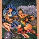 Amalgam (Fleer/SkyBox 1996) Power Blast Card #6- Amazons: The Contest #1 EX