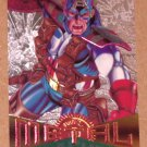 Marvel Metal (Fleer 1995) Silver Flasher Card #11- Captain America EX