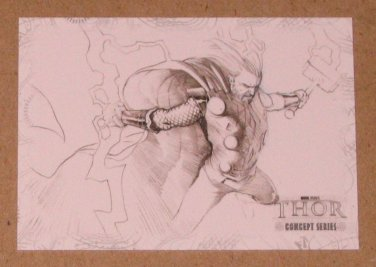Thor Movie (Upper Deck 2011) Concept Series Card C10 EX