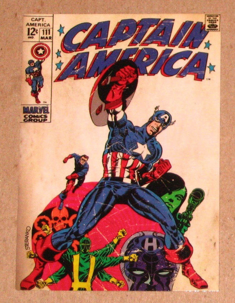 Captain America The First Avenger Movie (Upper Deck 2011) Comic Covers Card C-5 EX