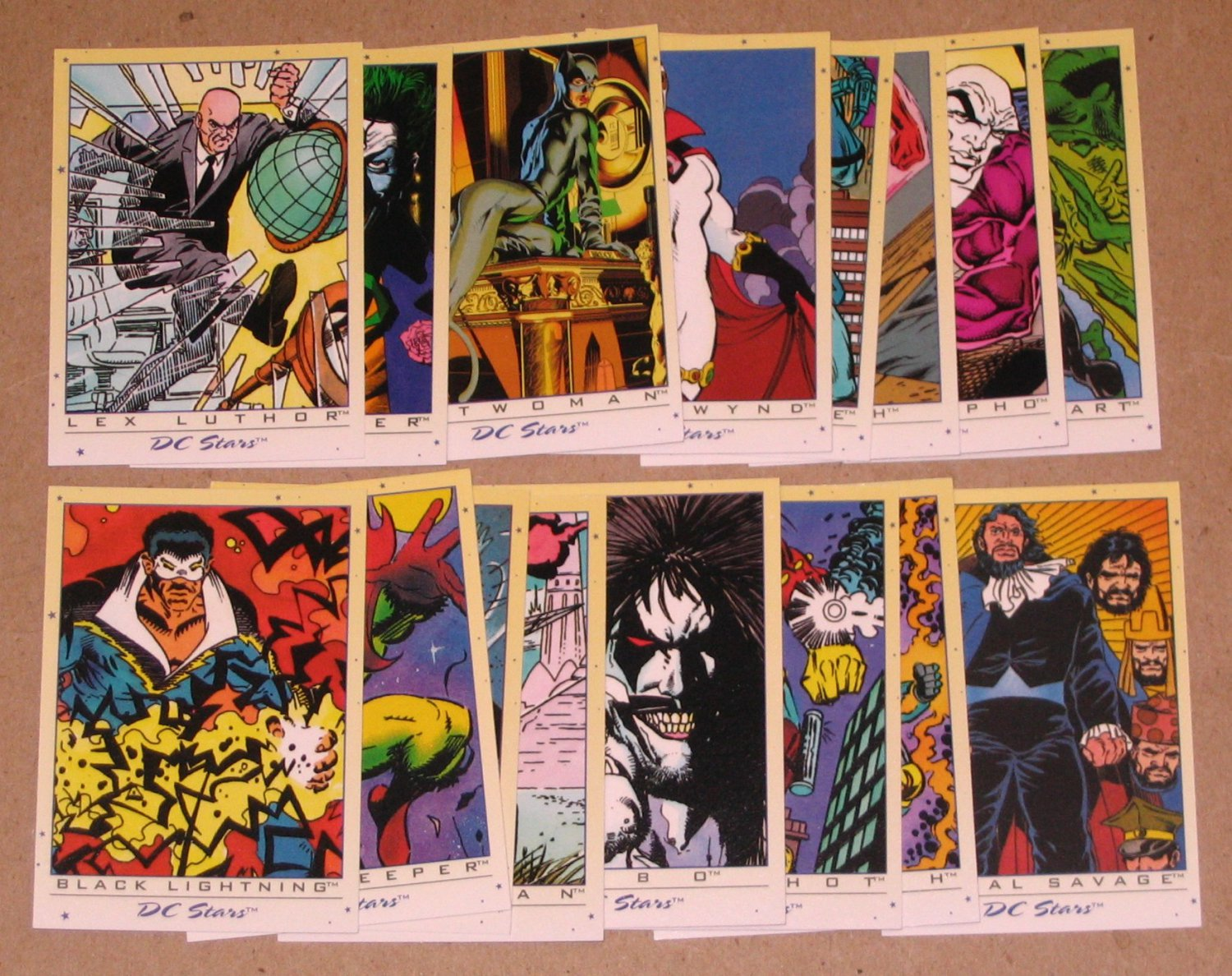 DC Stars (SkyBox 1994) - Lot of 16 Cards EX