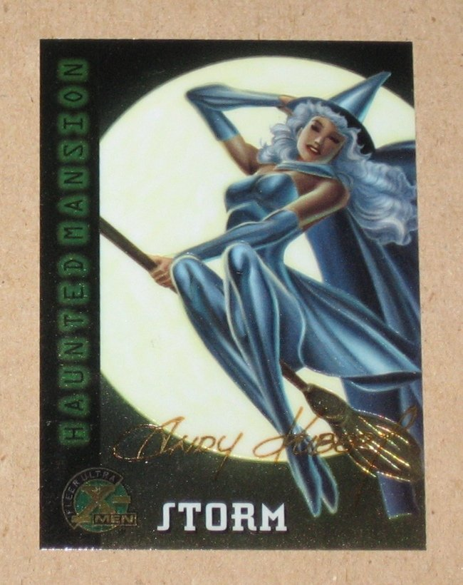 X-Men All Chromium, Fleer Ultra 1995 - Gold-foil Signature Card #98- Storm EX