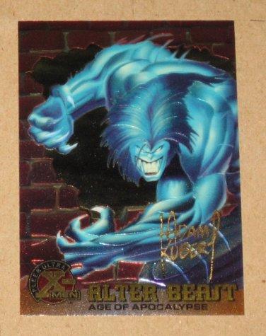 X-Men All Chromium, Fleer Ultra 1995 - Gold-foil Signature Card #39- Alter Beast EX-MT