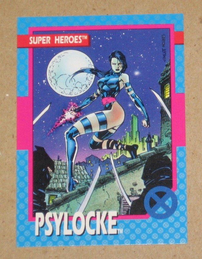 X-Men Series 1 (Impel 1992) Card #12- Psylocke EX