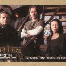 Stargate Universe Season 1 (Rittenhouse 2010) Promo Card P1 VG