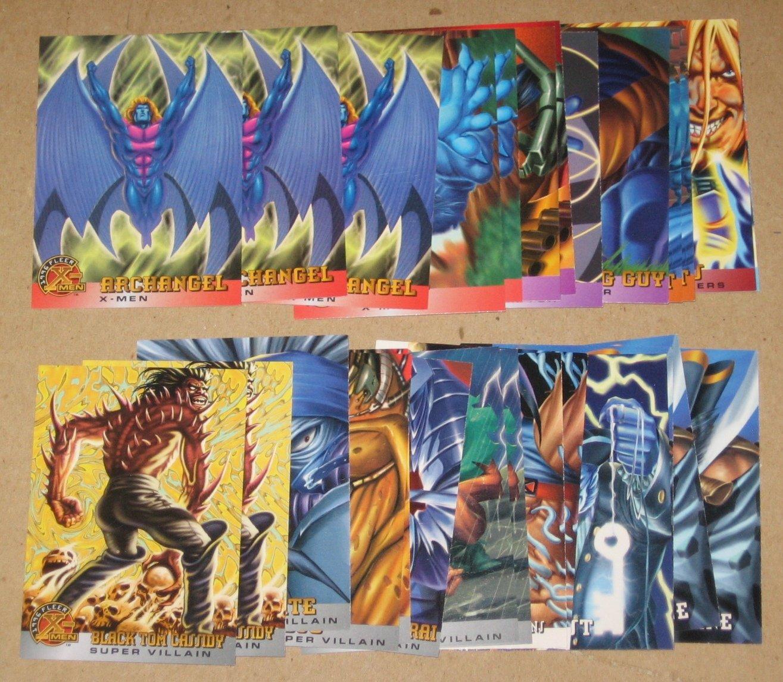 1996 Fleer X-Men (Walmart) - Lot of 27 Cards VG