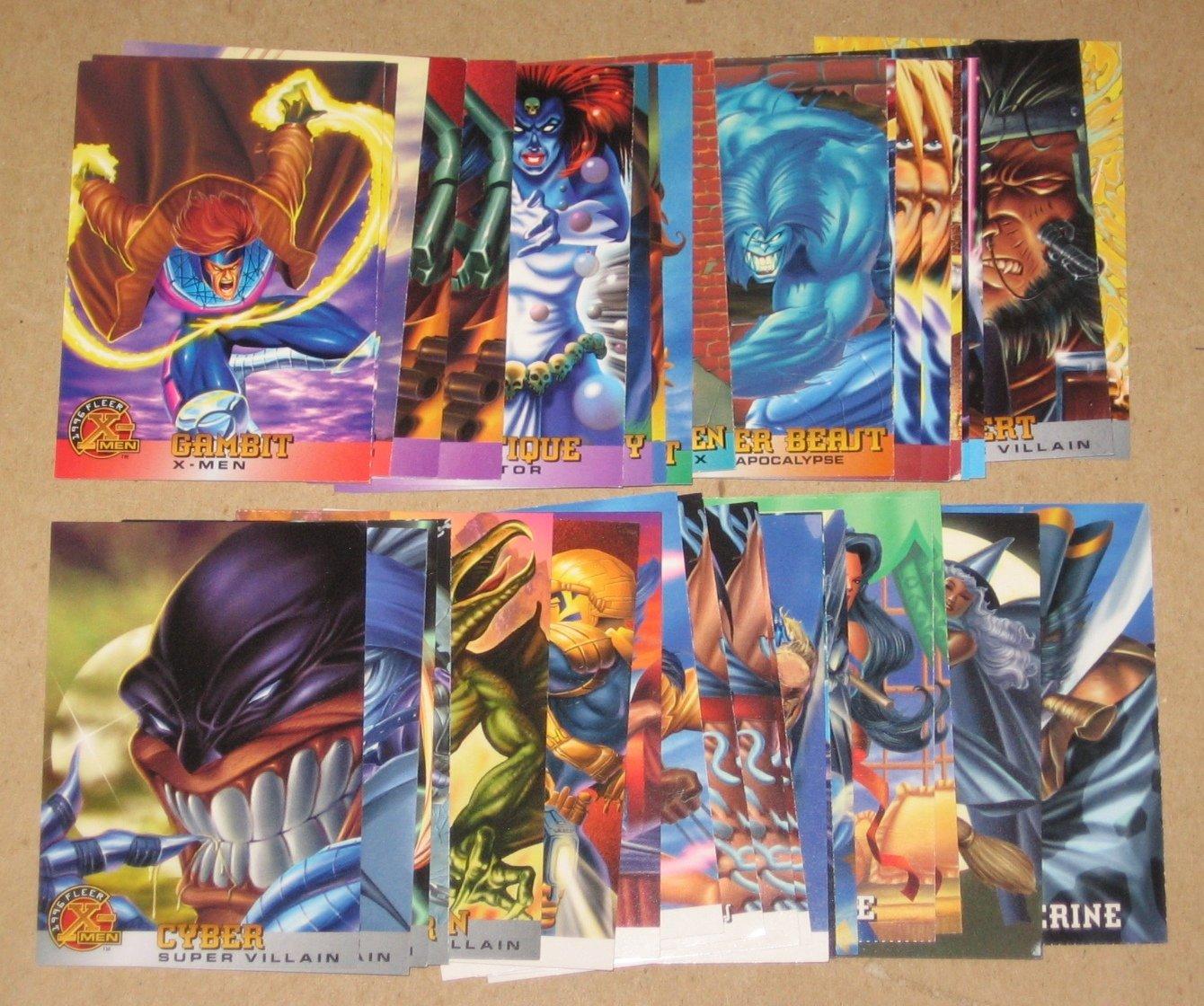 1996 Fleer X-Men (Walmart) - Lot of 38 Cards G