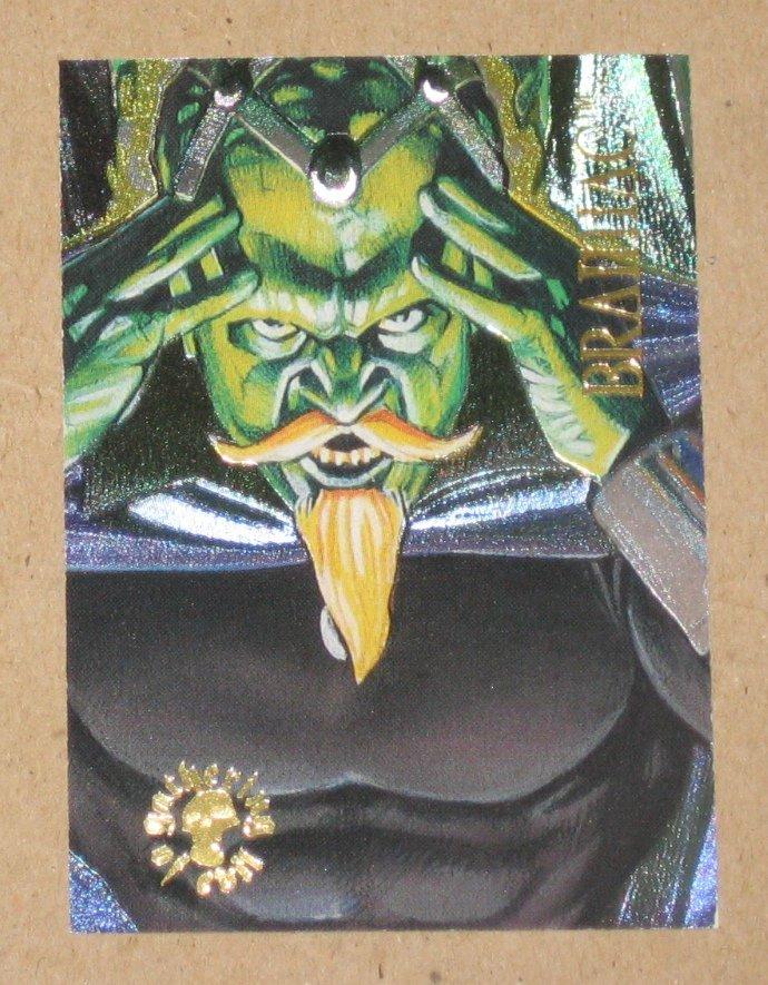 DC Villains Dark Judgment (SkyBox 1995) Spectra-Etch Card ge8 - Brainiac VG