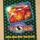 Marvel Vision (Fleer/SkyBox 1996) - Iron Man Mini-Magazine VG
