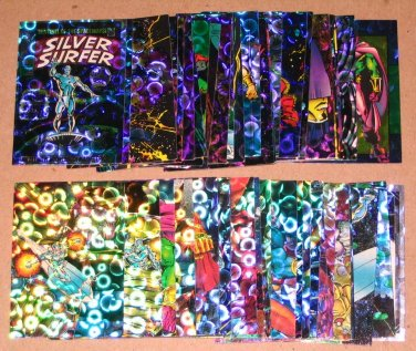 Silver Surfer (Comic Images 1992) - Lot of 49 Cards EX