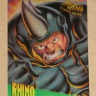 Spider-Man, Fleer Ultra (1995) ClearChrome Card #6- Rhino EX