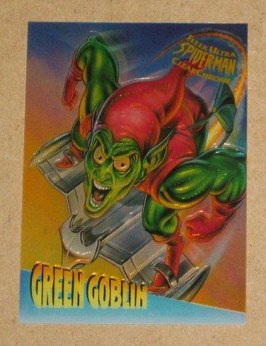 Spider-Man, Fleer Ultra (1995) ClearChrome Card #2- Green Goblin NM