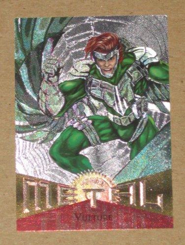 Marvel Metal (Fleer 1995) Silver Flasher Card #81- Vulture VG