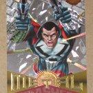 Marvel Metal (Fleer 1995) Silver Flasher Card #50- Punisher 2099 EX