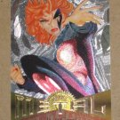 Marvel Metal (Fleer 1995) Silver Flasher Card #6- Jean Grey EX