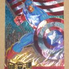 Marvel Metal (Fleer 1995) Metal Blaster Card #2- Captain America EX