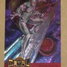 Marvel Metal (Fleer 1995) Metal Blaster Card #11- Silver Surfer EX