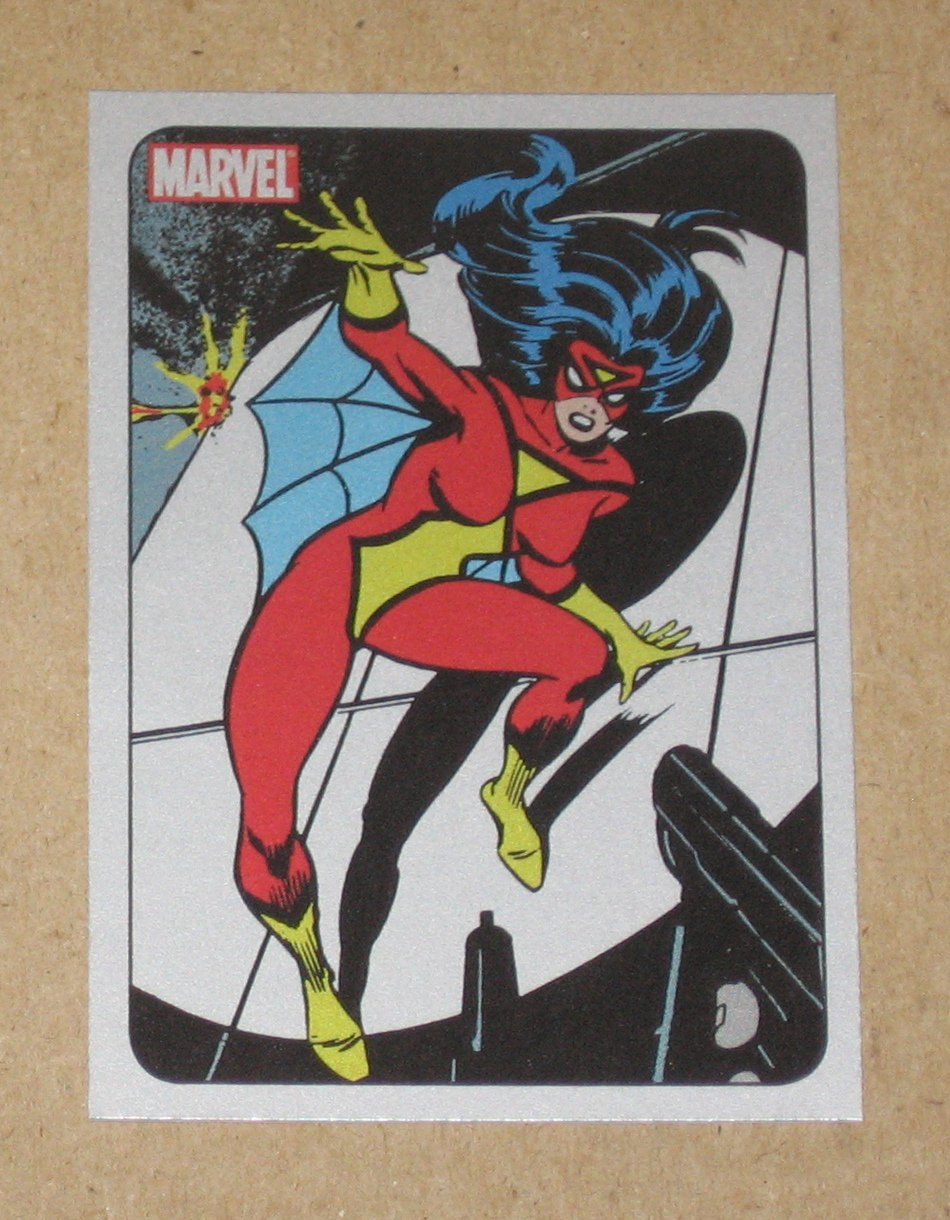 70 Years of Marvel Comics (Rittenhouse 2010) Metalic Ink Parallel Card #41- Spider-Woman 1978 EX
