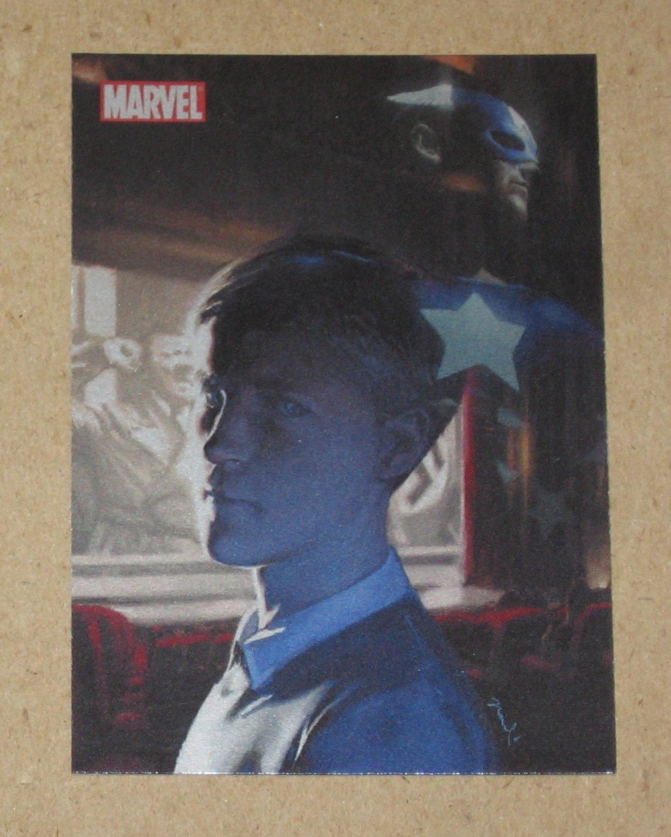 70 Years of Marvel Comics (Rittenhouse) Metalic Ink Parallel Tribute Card T1- Captain America EX
