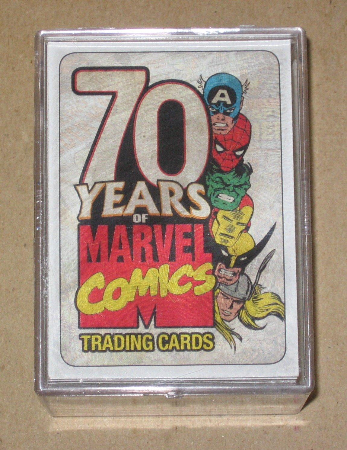 70 Years of Marvel Comics (Rittenhouse 2010) - Full 72 Base Card Set EX