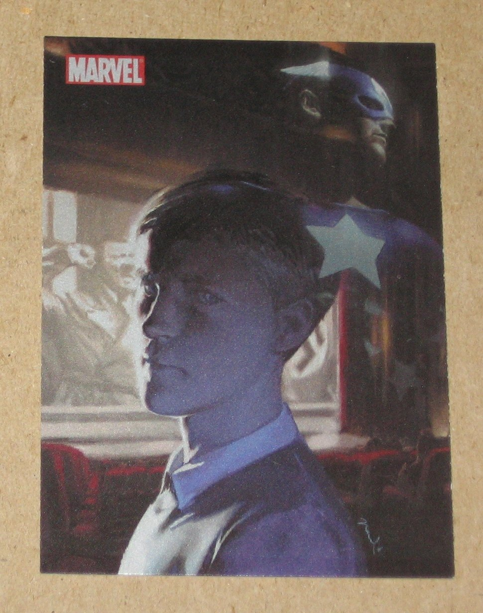70 Years of Marvel Comics (Rittenhouse) Metalic Ink Parallel Tribute Card T1- Captain America VG