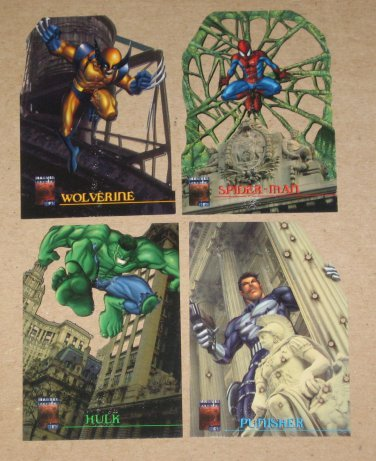 Marvel Premium QFX (Fleer/SkyBox 1997) LazerBlast Card Set VG
