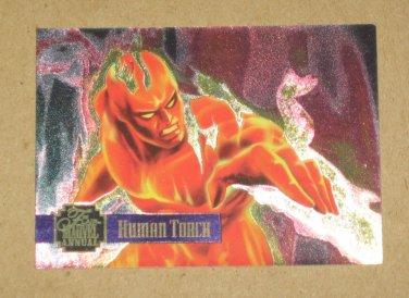 Flair '95 Marvel Annual (Fleer 1995) PowerBlast Card #13- Human Torch EX